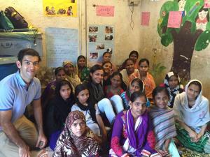 Aleem and Myrna Jivraj at Aangan Trust, Mumbai India